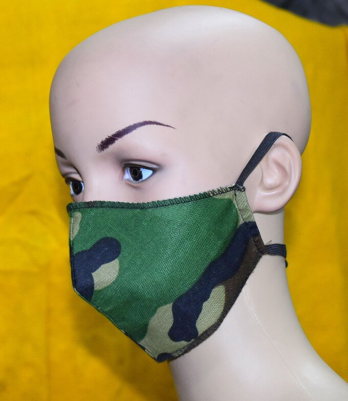 mascarilla color militar